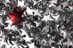 Conceito excelente no negócio ilustrado pela estrela, rendição 3D Fotografia de Stock