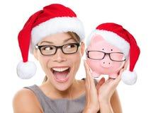 Conceito eyewear da venda dos vidros do Natal Foto de Stock