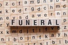 Conceito fúnebre da palavra fotos de stock