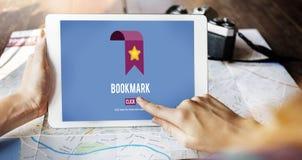 Conceito favorito do Social da Web do homepage dos dados do marcador imagens de stock royalty free