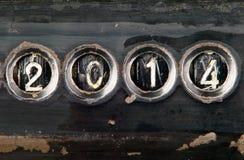 conceito 2014 feito dos números Imagens de Stock Royalty Free