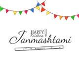 Conceito feliz de Krishna Janmashtami Imagem de Stock Royalty Free