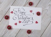 Conceito feliz do dia do ` s do Valentim com confeito imagens de stock royalty free
