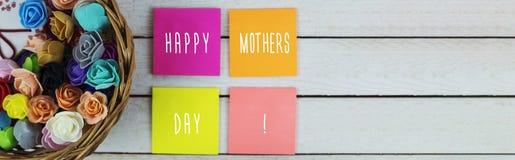 Conceito feliz do dia do ` s da mãe Fotos de Stock Royalty Free