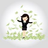 Conceito feliz do dinheiro Imagens de Stock Royalty Free