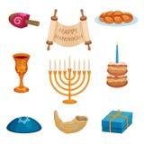 Conceito feliz do Hanukkah Tradições e cultura judaicas ilustração do vetor