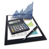 Conceito financeiro da analítica do negócio Imagens de Stock