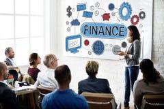 Conceito financeiro da contabilidade do orçamento da economia da finança fotografia de stock