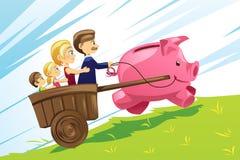 Conceito financeiro da família ilustração do vetor
