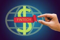 Conceito financeiro da tecnologia do Internet do investimento de Fintech Imagens de Stock