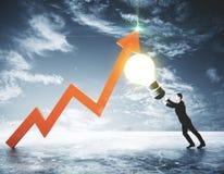 Conceito financeiro das ideias Imagens de Stock