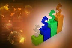Conceito financeiro do crescimento Imagem de Stock Royalty Free