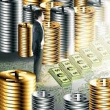 Conceito financeiro do crescimento Foto de Stock Royalty Free