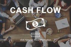 Conceito financeiro do dinheiro do negócio do fluxo de caixa foto de stock royalty free