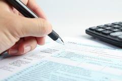 Conceito financeiro do formulário de imposto Foto de Stock Royalty Free