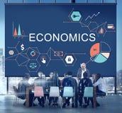 Conceito financeiro do investimento do orçamento do negócio da economia imagens de stock