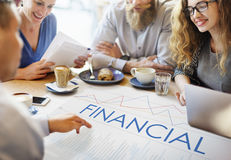 Conceito financeiro do processo de negócios da analítica das estatísticas Fotos de Stock Royalty Free