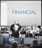 Conceito financeiro do progresso do negócio da analítica das estatísticas Fotografia de Stock Royalty Free