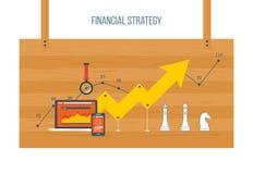 Conceito financeiro do relatório e da estratégia Foto de Stock Royalty Free