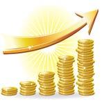 Conceito financeiro do sucesso Fotografia de Stock Royalty Free
