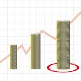 Conceito financeiro do sucesso Fotos de Stock