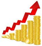 Conceito financeiro do sucesso ilustração royalty free