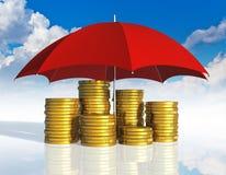 Conceito financeiro do sucesso da estabilidade e de negócio ilustração royalty free