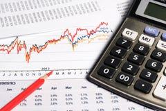 Conceito financeiro ou de contabilidade imagens de stock
