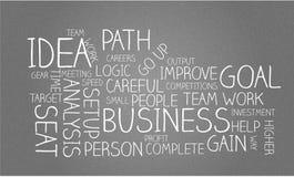 Conceito financeiro Team Work Goal Headlines da ideia do negócio ilustração royalty free