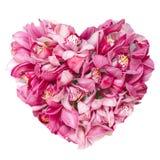 Conceito floral da colagem do coração das flores dos verões Fotos de Stock Royalty Free