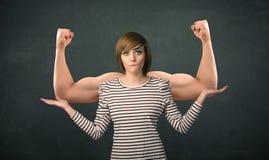 Conceito forte e muscled dos braços Imagem de Stock Royalty Free