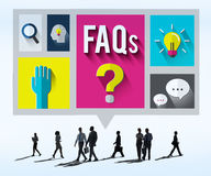 Conceito frequentemente pedido da resposta da informação da ajuda das perguntas ilustração royalty free