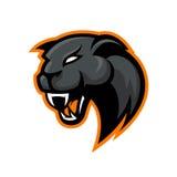Conceito furioso do logotipo do vetor do esporte da pantera isolado no fundo branco Fotos de Stock Royalty Free