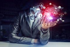 Conceito futurista da conexão sem fio Foto de Stock