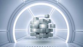 Conceito futurista das tecnologias Meios mistos Foto de Stock Royalty Free
