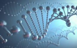 Conceito futurista do ADN ilustração royalty free