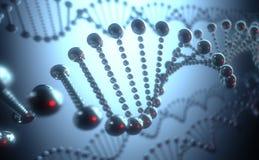 Conceito futurista do ADN ilustração stock