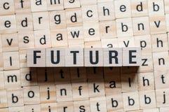 Conceito futuro da palavra imagem de stock