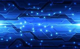 Conceito futuro da tecnologia de circuito digital do vetor, ilustração abstrata do fundo ilustração royalty free