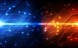 Conceito futuro da tecnologia de circuito digital do vetor, ilustra??o abstrata do fundo ilustração royalty free