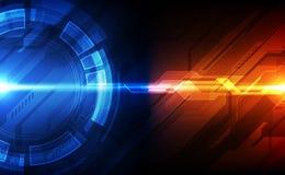 Conceito futuro da tecnologia de circuito digital do vetor, ilustra??o abstrata do fundo ilustração do vetor