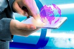 Conceito futuro da tecnologia ilustração royalty free