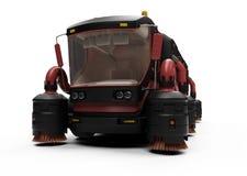 Conceito futuro da vista isolada caminhão de lavagem Fotografia de Stock Royalty Free