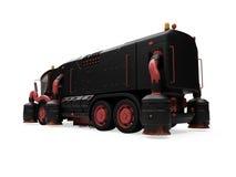 Conceito futuro da vista isolada caminhão de lavagem Fotos de Stock Royalty Free