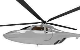 Conceito futuro da vista isolada helicóptero ilustração do vetor