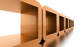 Conceito geométrico abstrato dos cubos rendido ilustração stock