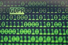 Conceito geral do regulamento da proteção de dados de GDPR Foto de Stock Royalty Free