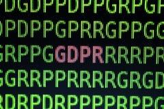 Conceito geral do regulamento da proteção de dados de GDPR Fotos de Stock Royalty Free