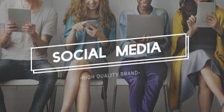 Conceito global da comunidade social de Media Communication Fotografia de Stock Royalty Free