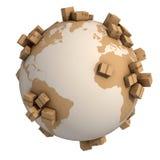 Conceito global da expedição 3d Fotografia de Stock Royalty Free